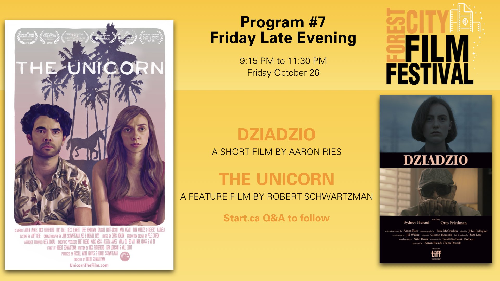 Forest City Film Festival 2018 - Friday Night Program #7