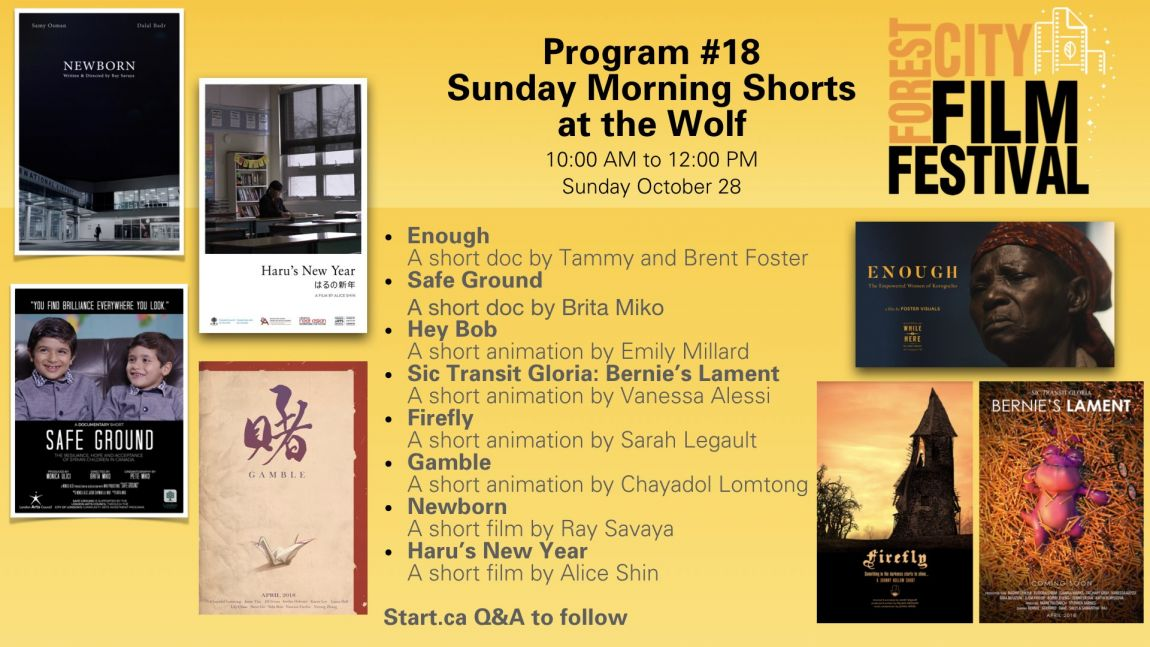 Forest City Film Festival 2018 - Sunday Morning Shorts at the Wolf -Program #18