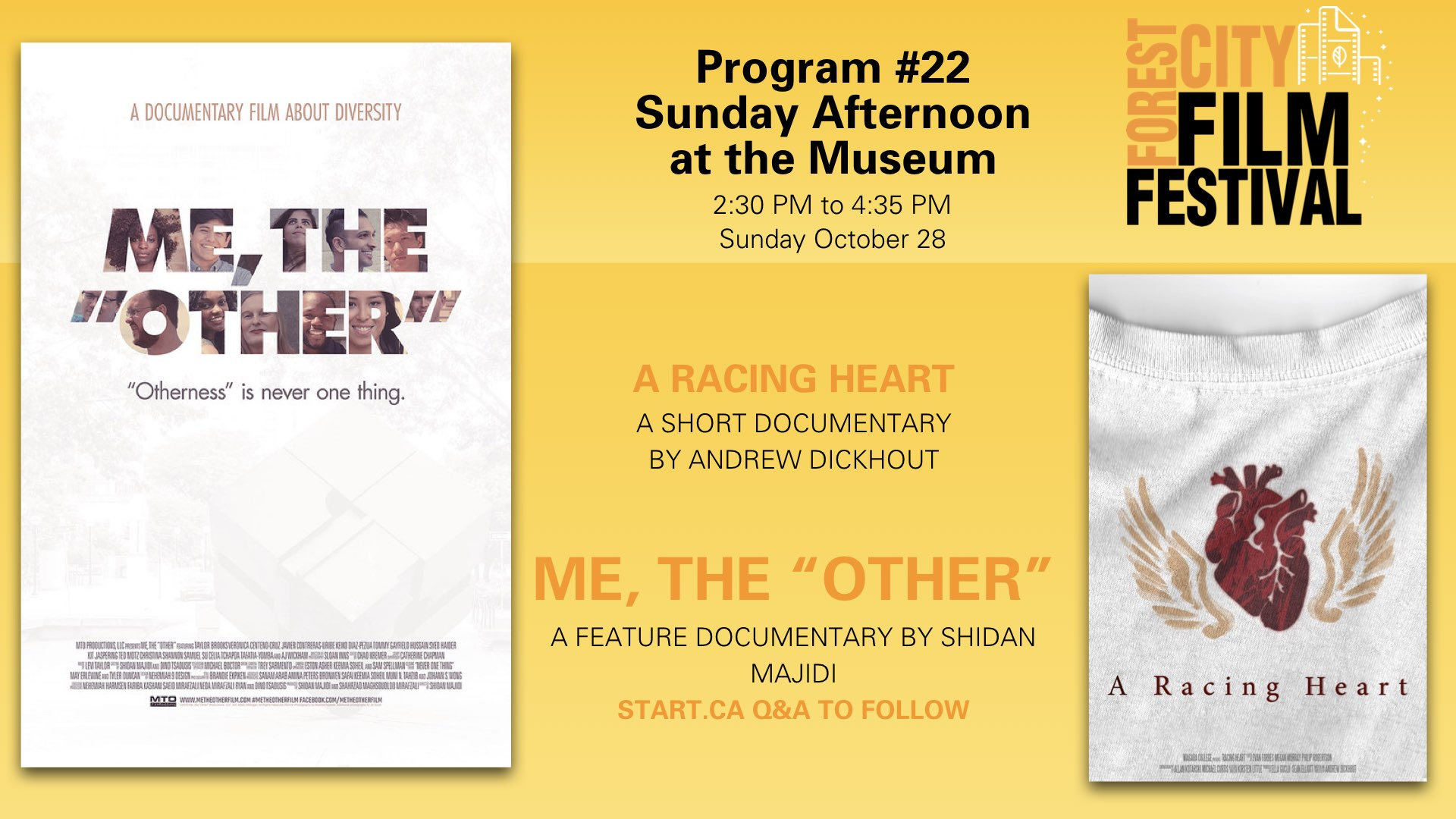 Forest City Film Festival 2018 - Sunday afternoon at the Museum Program #22