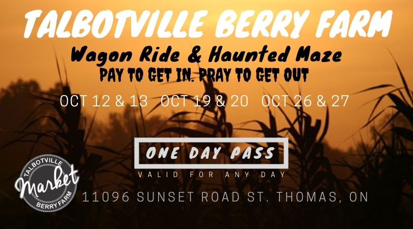 Talbotville Farm Wagon Ride & Haunted Corn Maze (Any Day Pass)