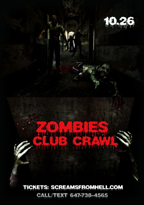 Zombies Halloween Club/Pub Crawl Toronto Party Friday: Early Mercy, Same Nightclub, Citizen, Spice Route