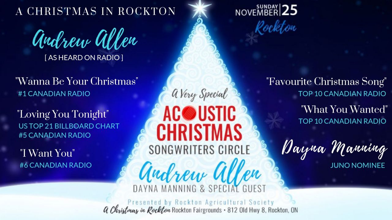 A Very Special Acoustic Christmas Songwriters Circle in Rockton featuring Andrew Allen & Dayna Manning