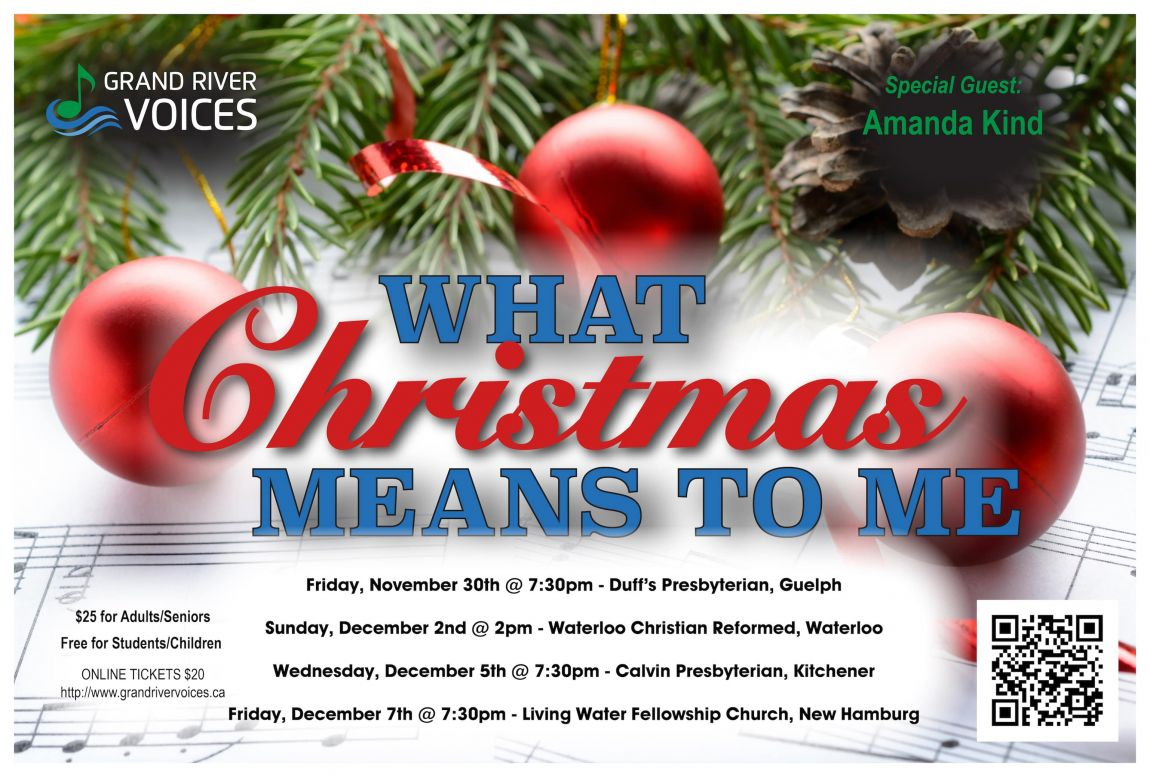 Grand River Voices present: What Christmas Means to Me