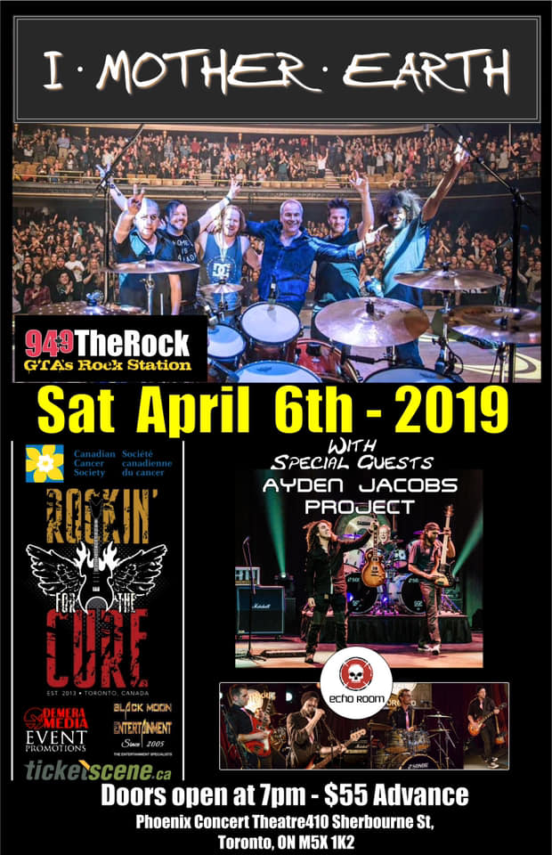 5th Annual Rockin' For The Cure Event with I MOTHER EARTH