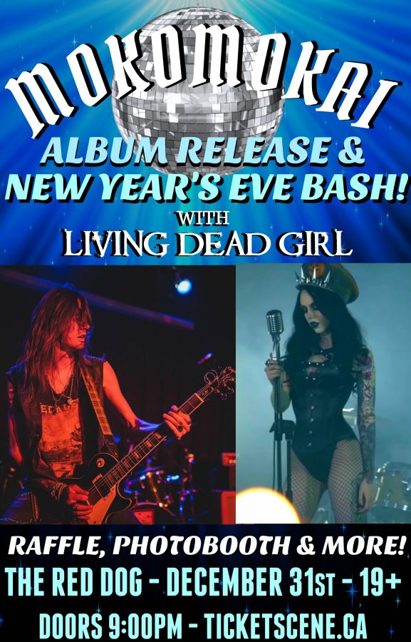 Mokomokai Album Release + New Years Eve Bash with Living Dead Girl!