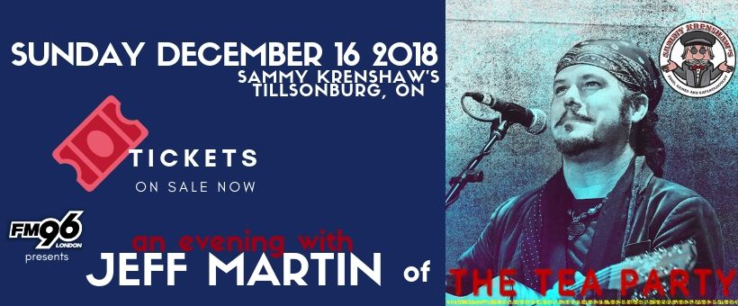 An Evening With Jeff Martin of The Tea Party