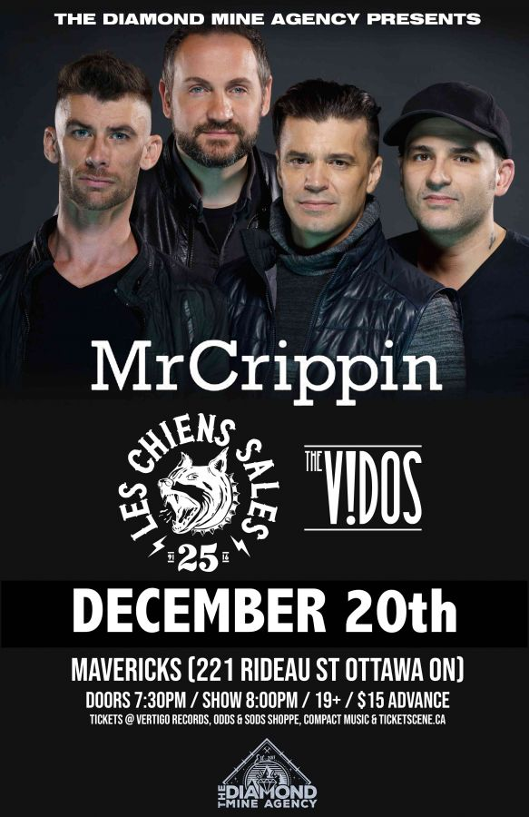 Mr Crippin, Les Chiens Sales, The Vidos & More @ Mavericks 12/20