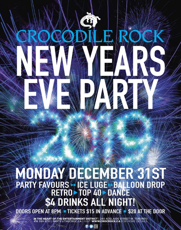 Annual New Year's Eve party at Crocodile Rock