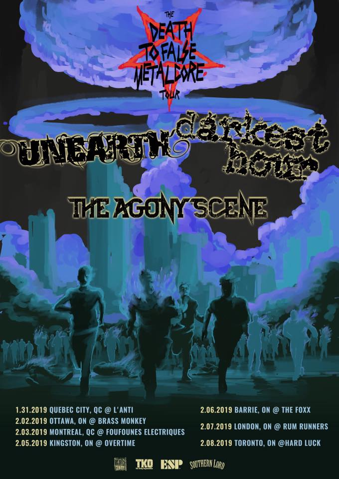 Unearth & Darkest hour in Kingston
