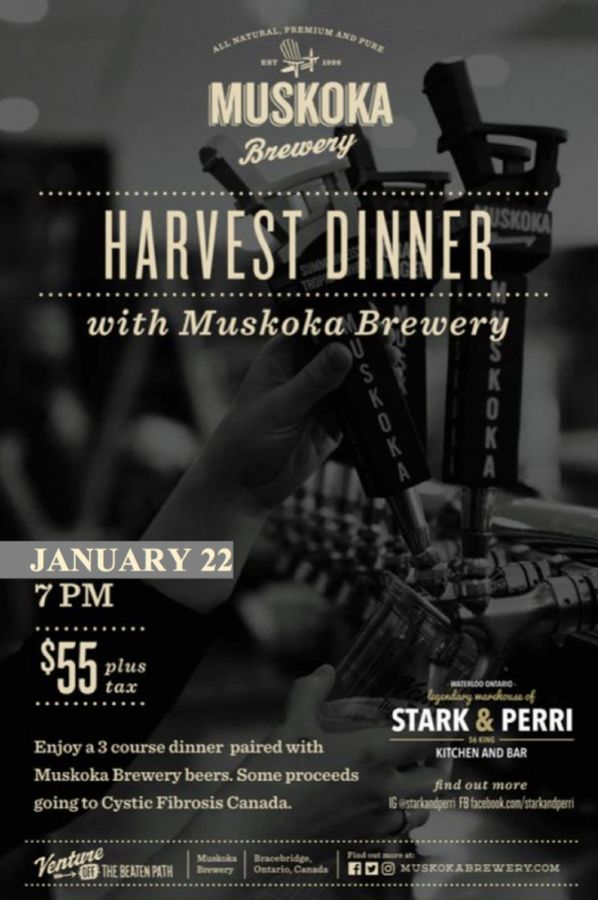 Harvest Dinner Featuring Muskoka Brewery