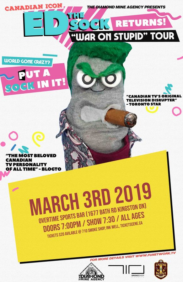 ED The Sock Live In Kingston ON March 3rd