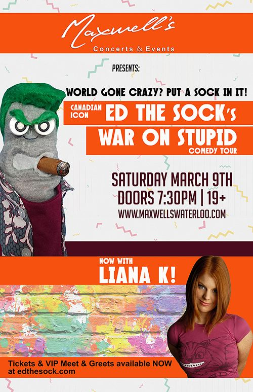 Ed the Sock: War on Stupid Comedy Tour