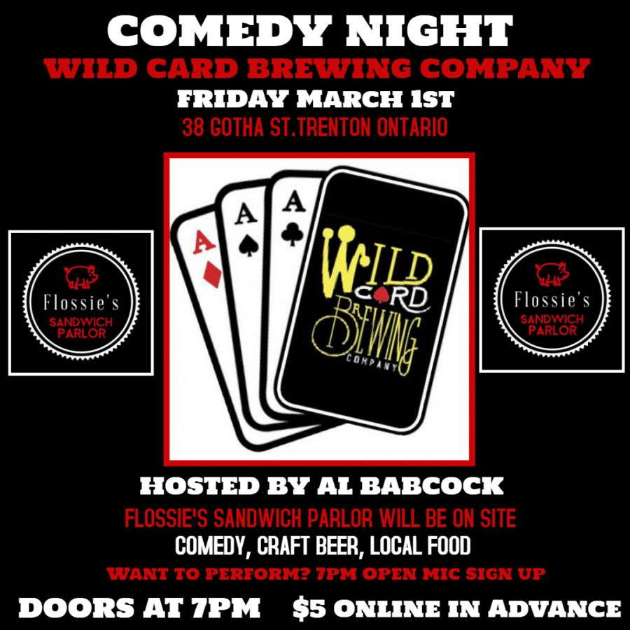 WildCard Comedy Night @ Wild Card Brewery