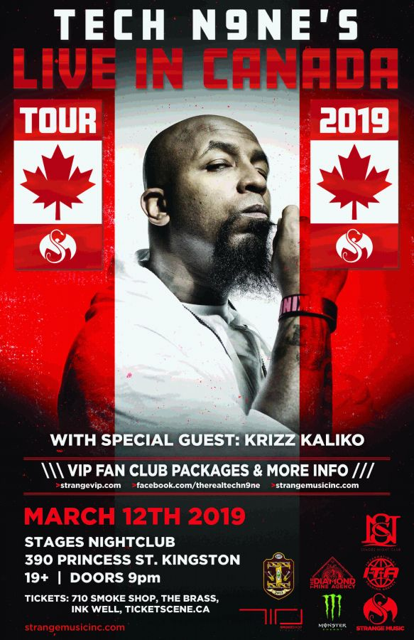 TECH N9NE Live In Kingston March 12th