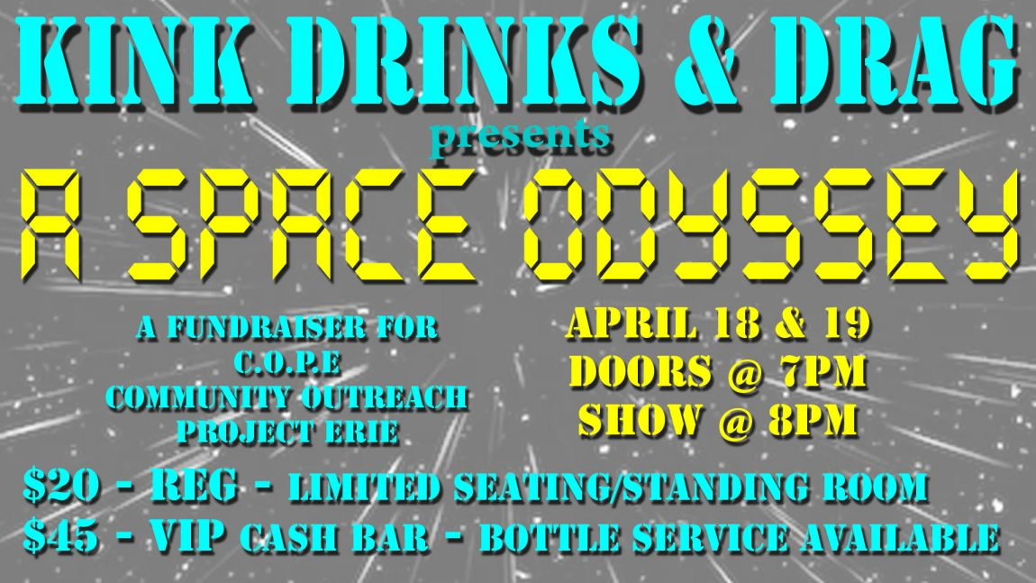 Kink, Drinks and Drag April 18, 2018