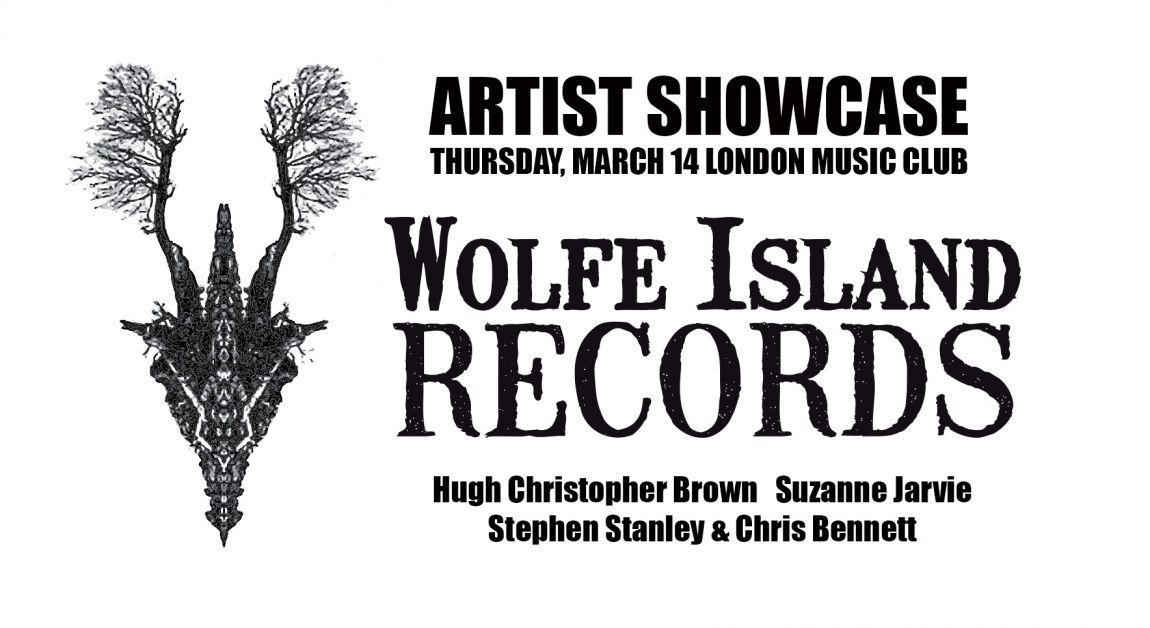 Wolfe Island Records presents Suzanne Jarvie, Hugh Christopher Brown and Stephen Stanley & Chris Bennett