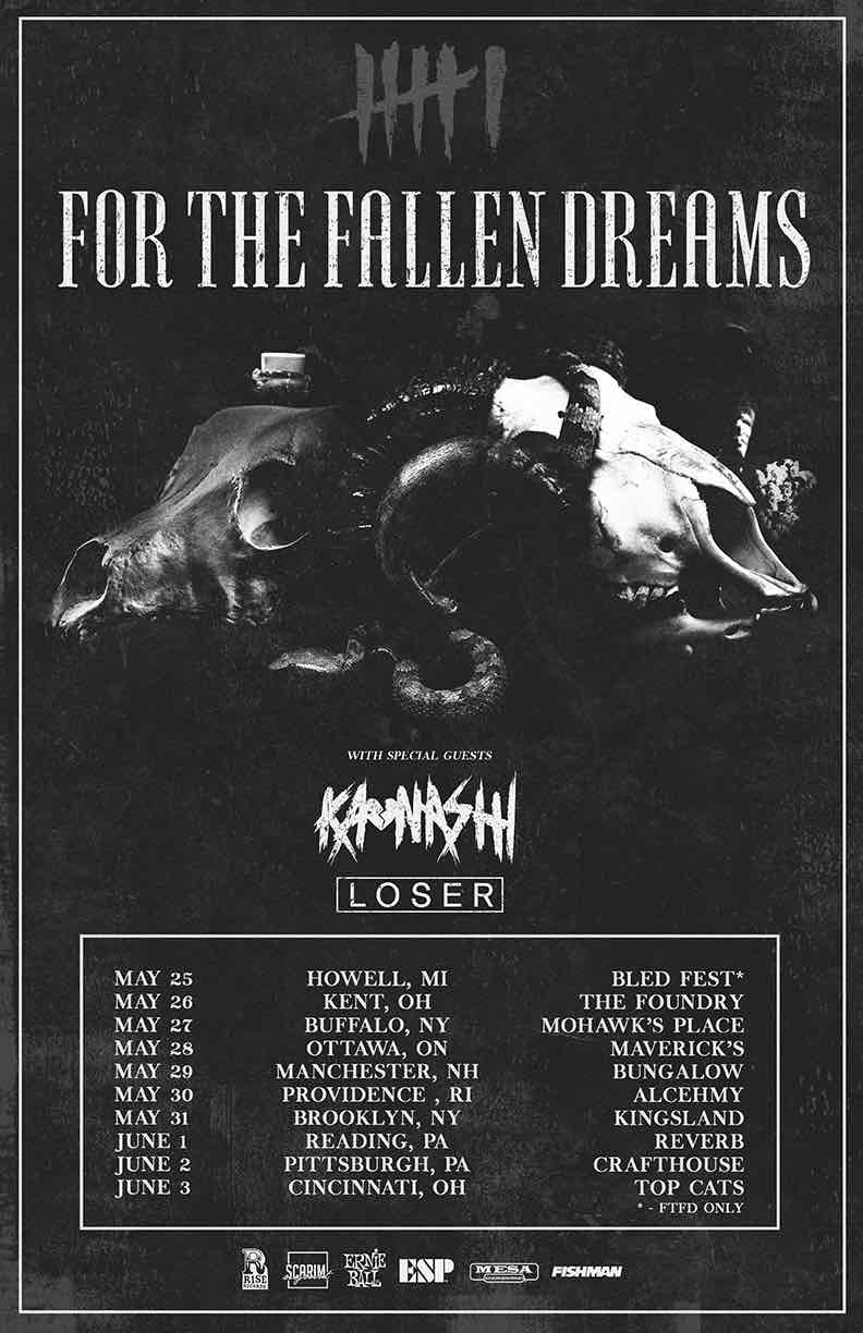 For The Fallen Dreams, Kaonashi, Loser & More In Ottawa