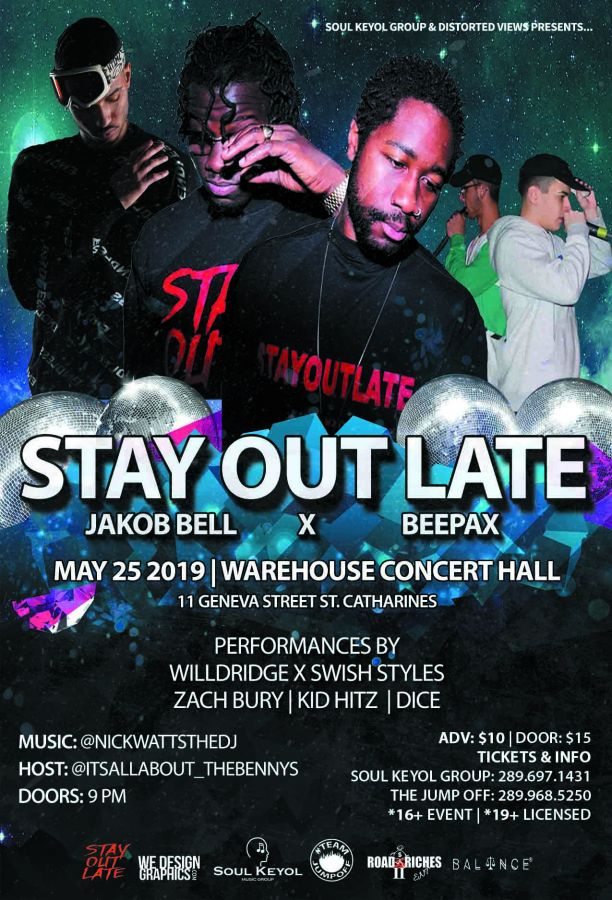 Stay Out Late x Jakob Bell x BeePax - Live in St. Catharines