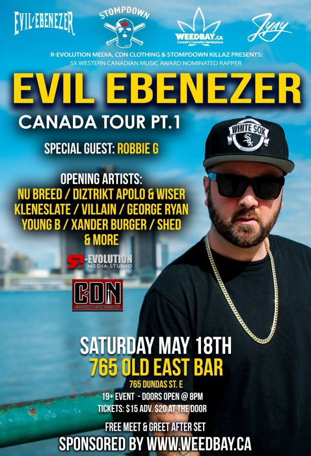 Evil Ebenezer SDK Live in London May 18th at 765 Old East Bar