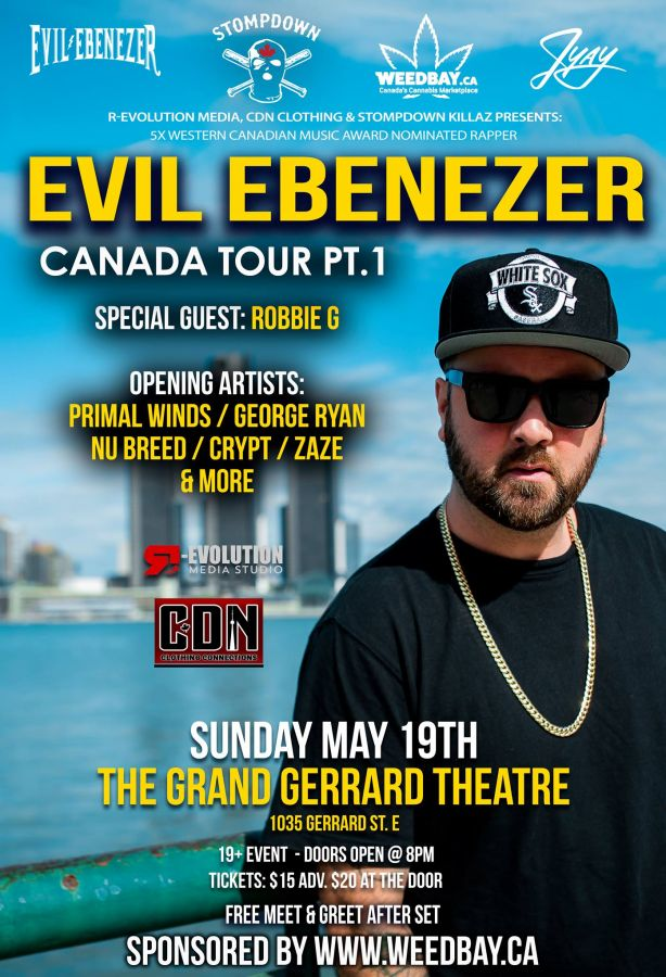 Evil Ebenezer SDK Live in Toronto May 19th at The Grand Gerrard Theatre