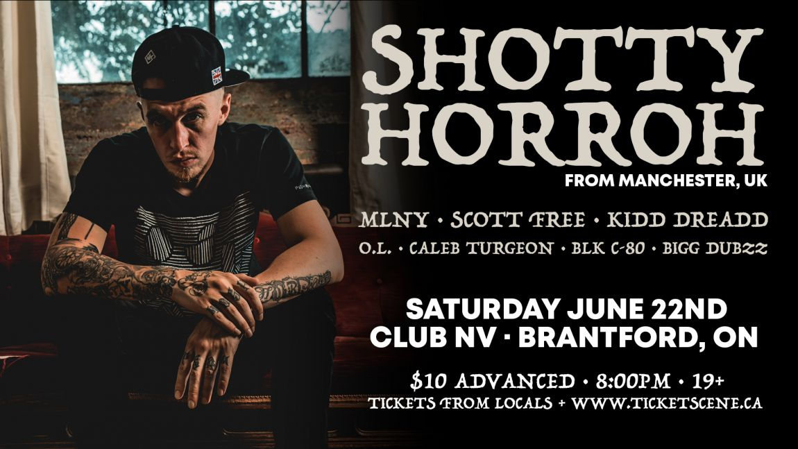 Shotty Horroh w/ guests - Sat June 22 in Brantford