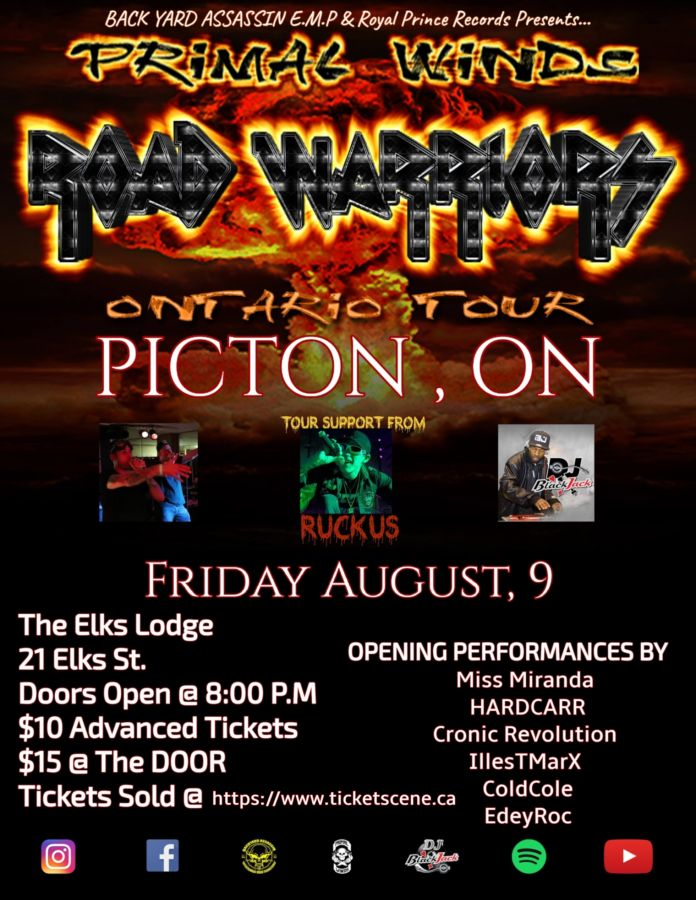 Primal Winds : Road Warriors Tour (Picton)