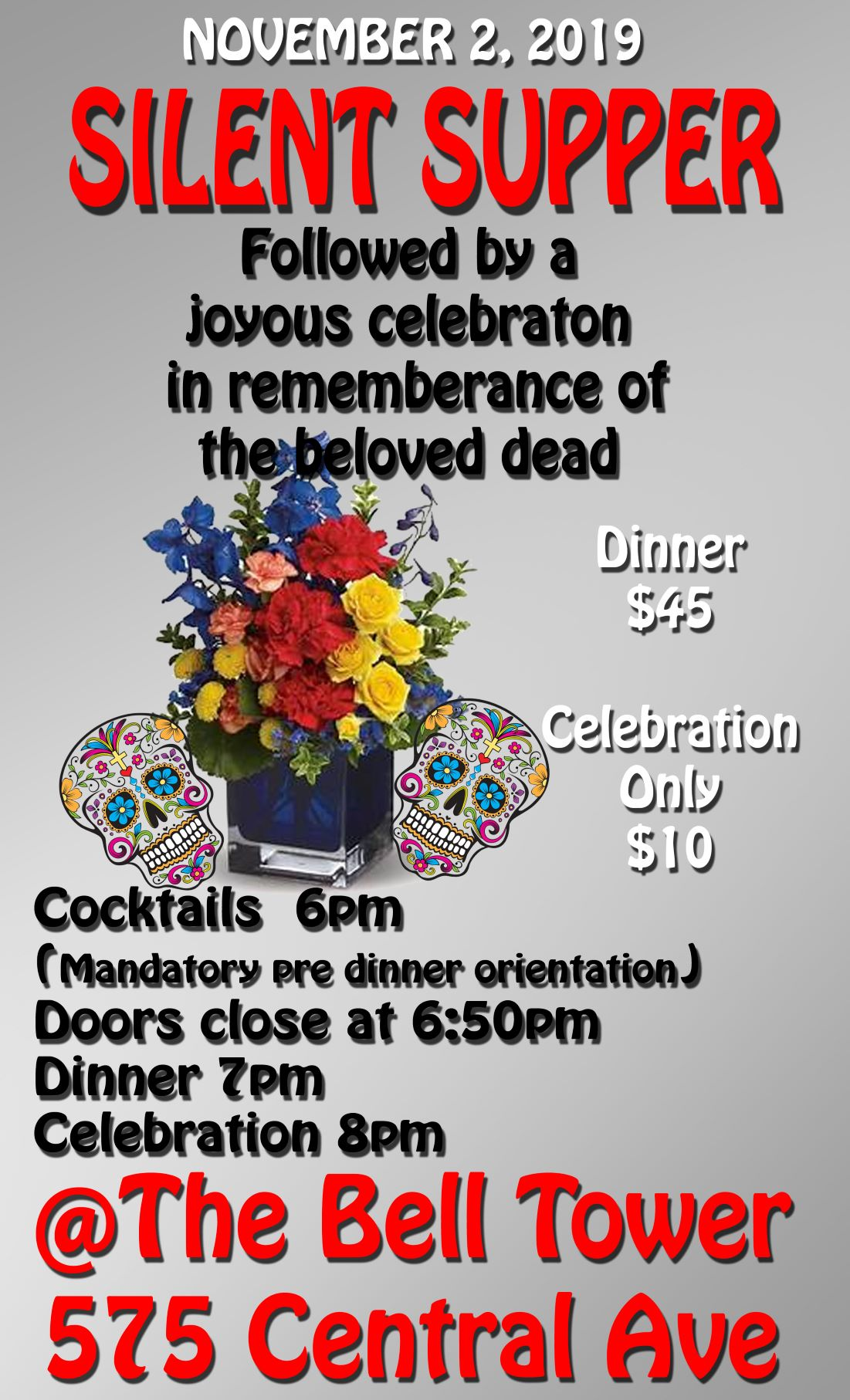 Silent Supper and Celebration - Remembrance of the beloved dead