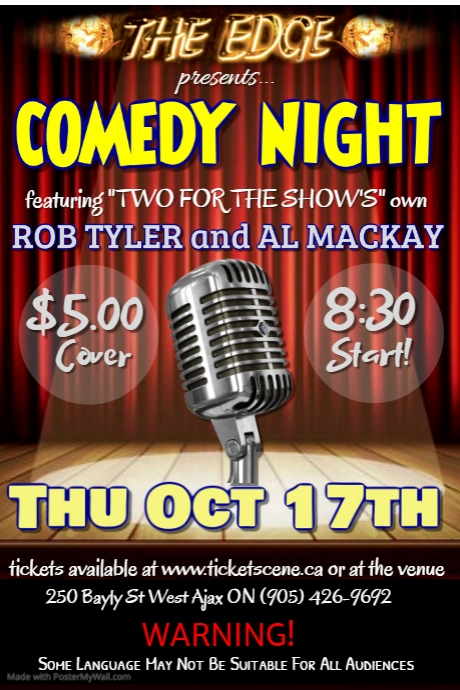 COMEDY NIGHT featuring ROB TYLER & AL MACKAY