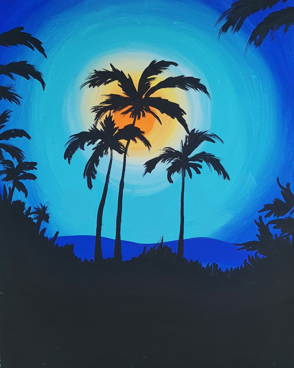 Tropical Sunset Paint Party
