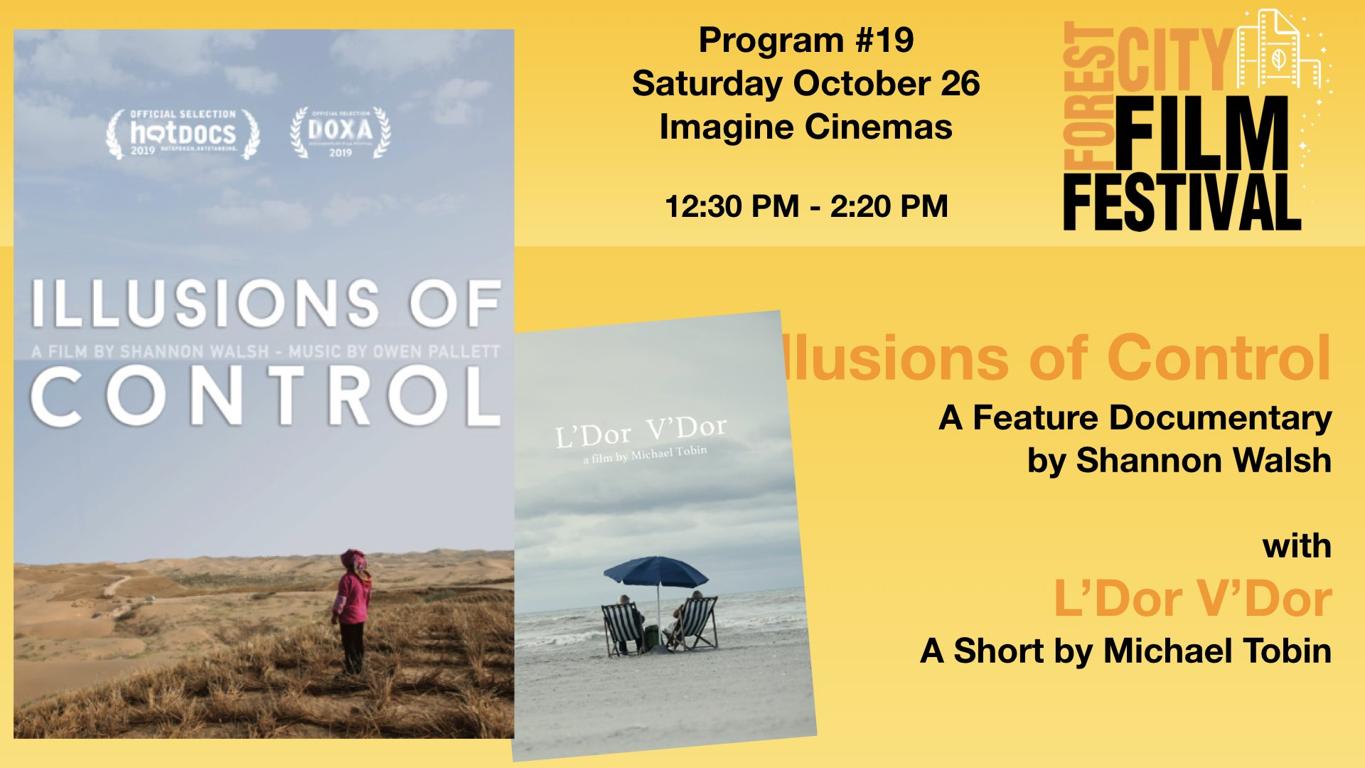 FCFF 2019 - Saturday Early Afternoon Imagine Program #19 - Illusions of Control & L'Dor V'Dor
