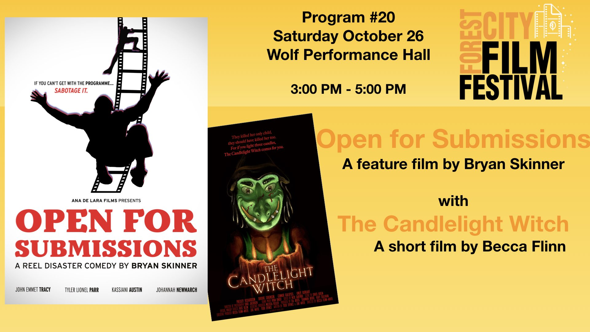 FCFF 2019 - Saturday Early Afternoon at Wolf Program #20 - Open for Submission & The Candlelight Witch
