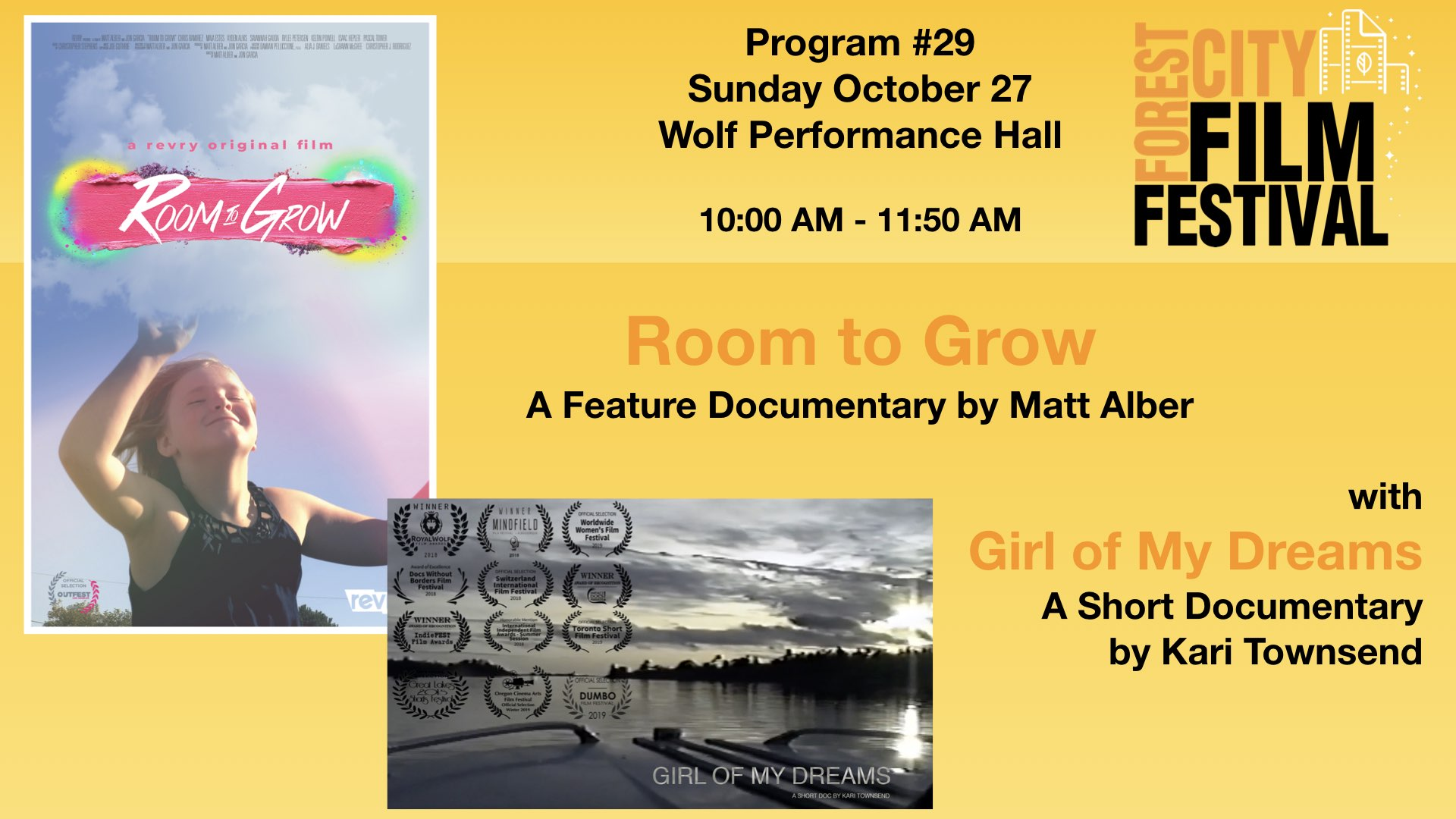 FCFF2019 - Sunday Morning at Wolf, Program #29- Room to Grow with Girl of my Dreams