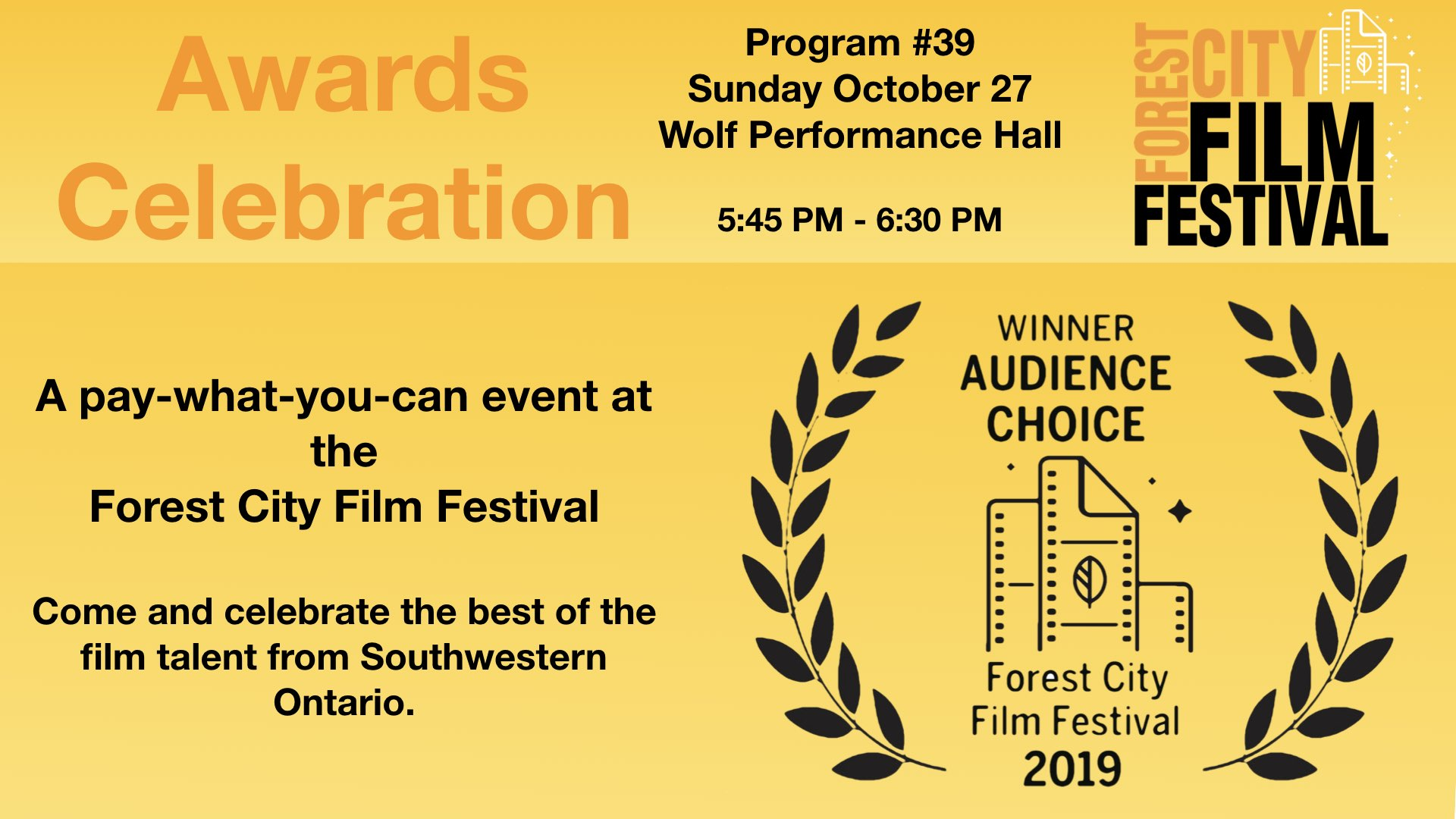 FCFF 2019 - Sunday Evening at Wolf, Program #39 - Awards Celebration