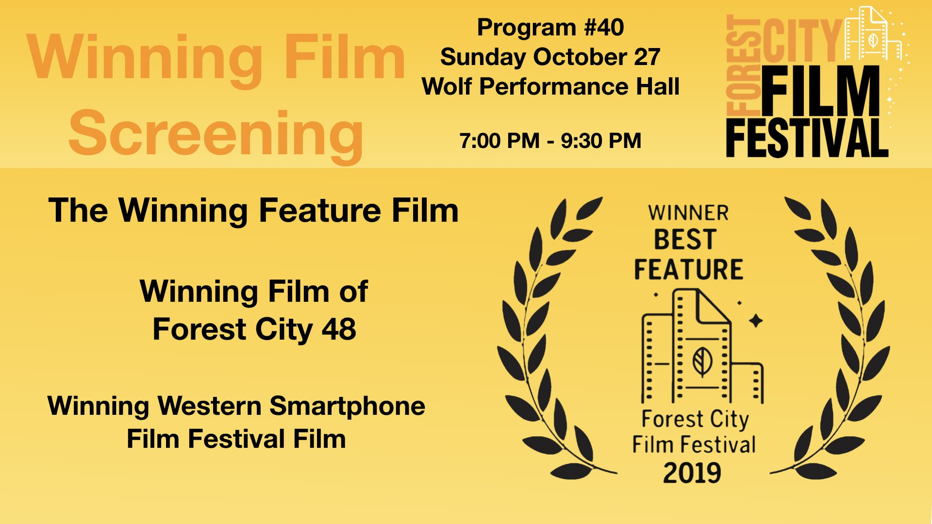 FCFF 2019 - Sunday night at Wolf, Program #40 - Closing screening