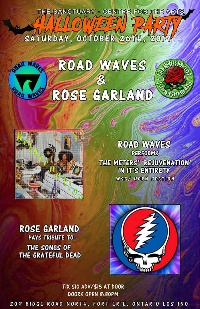Road Waves & Rose Garland Halloween Party