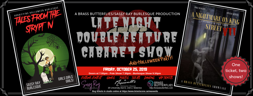 Pole and Burlesque Cabaret Show and Halloween Party