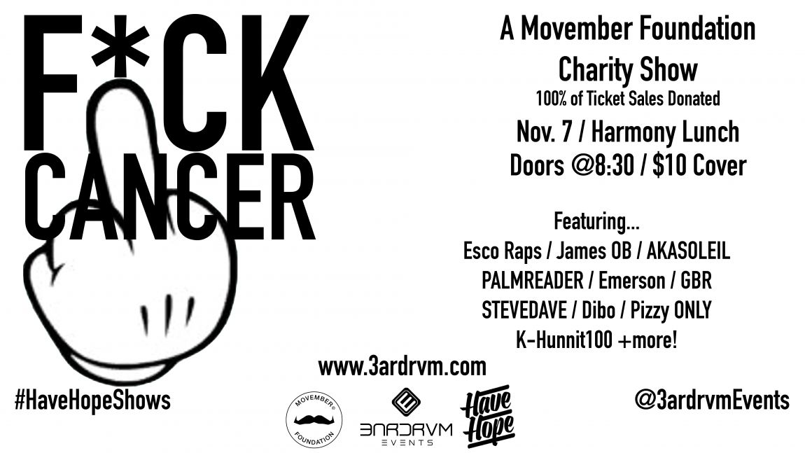 F*Ck Cancer Charity Hip-Hop Concert