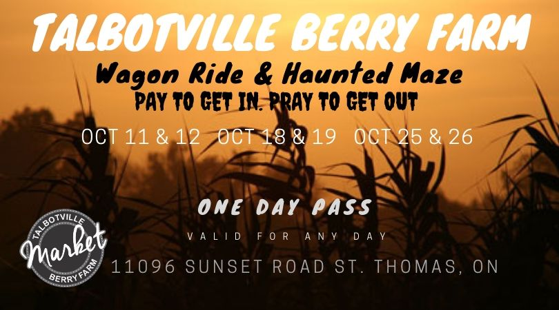 Any Day Pass - Talbotville Farm Wagon Ride & Haunted Corn Maze
