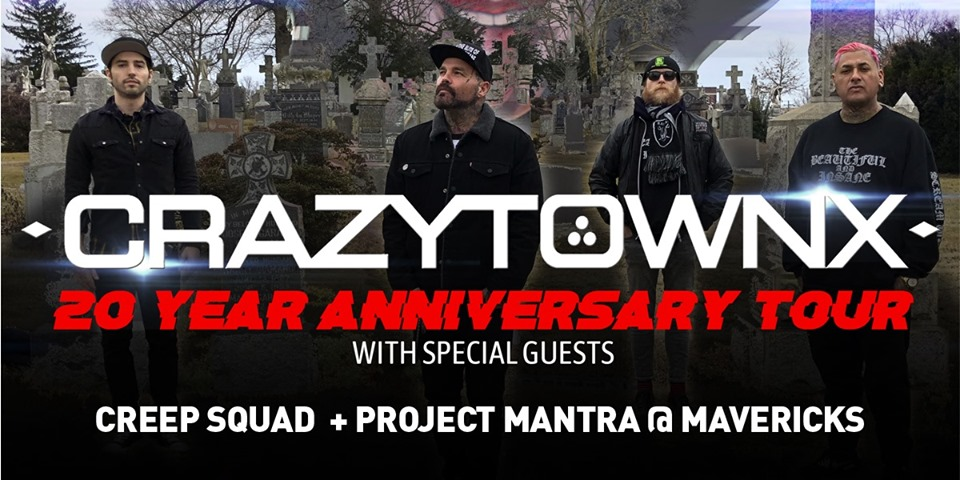Crazy Town - 20 Year Anniversary Tour Live In Ottawa