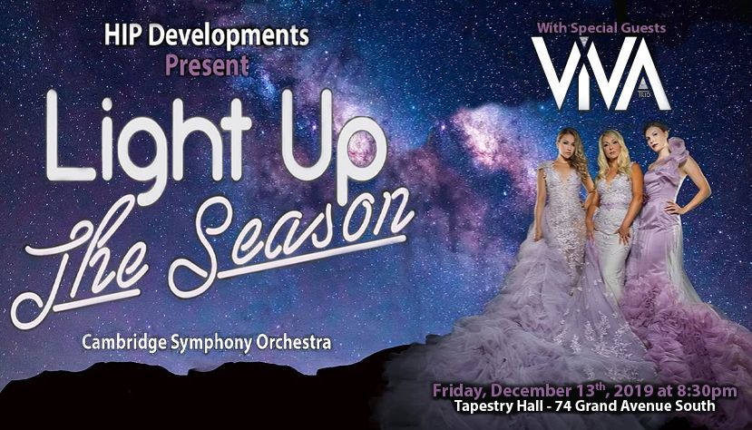 Light Up the Season ft. Cambridge Symphony Orchestra with VIVA Trio