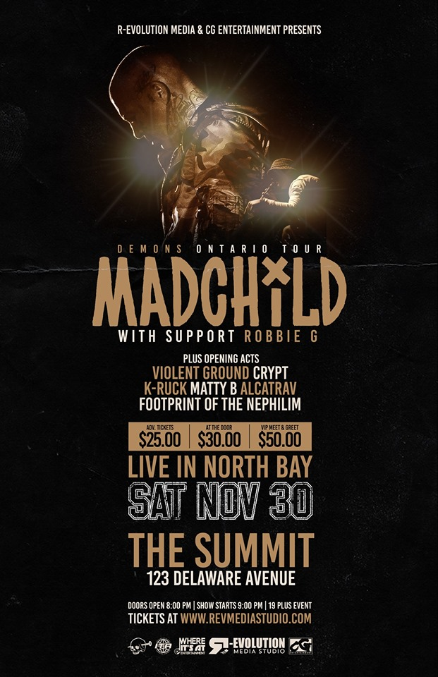 Madchild live in North Bay Nov 30th at The Summit