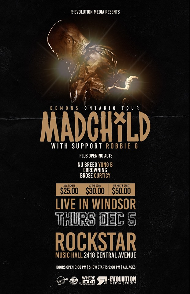 Madchild live in Windsor Dec 5th at RockStar Music Hall