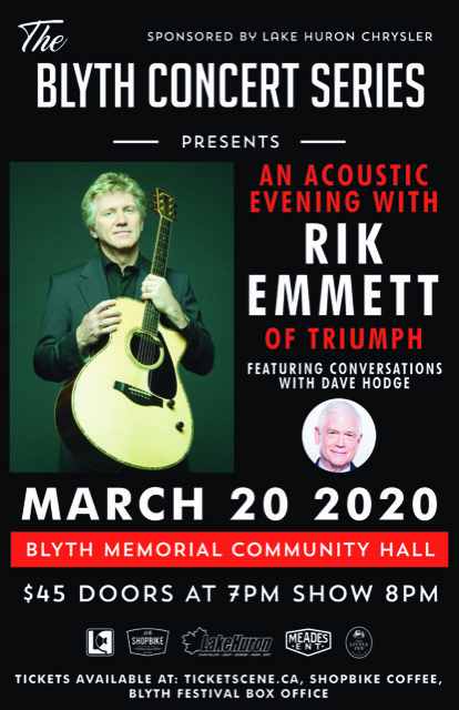 An acoustic evening with Rik Emmett of Triumph feat conversations with Dave Hodge