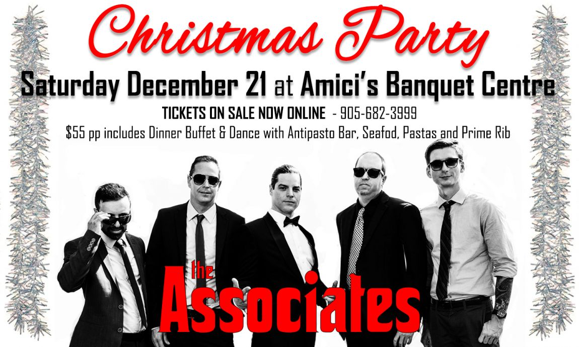 Amici's Banquet Centre Christmas Dinner Party with the ASSOCIATES