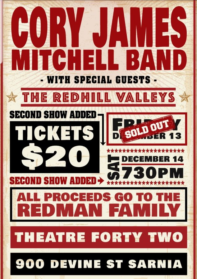 Cory James Mitchell Band wsg the Redhill Valleys