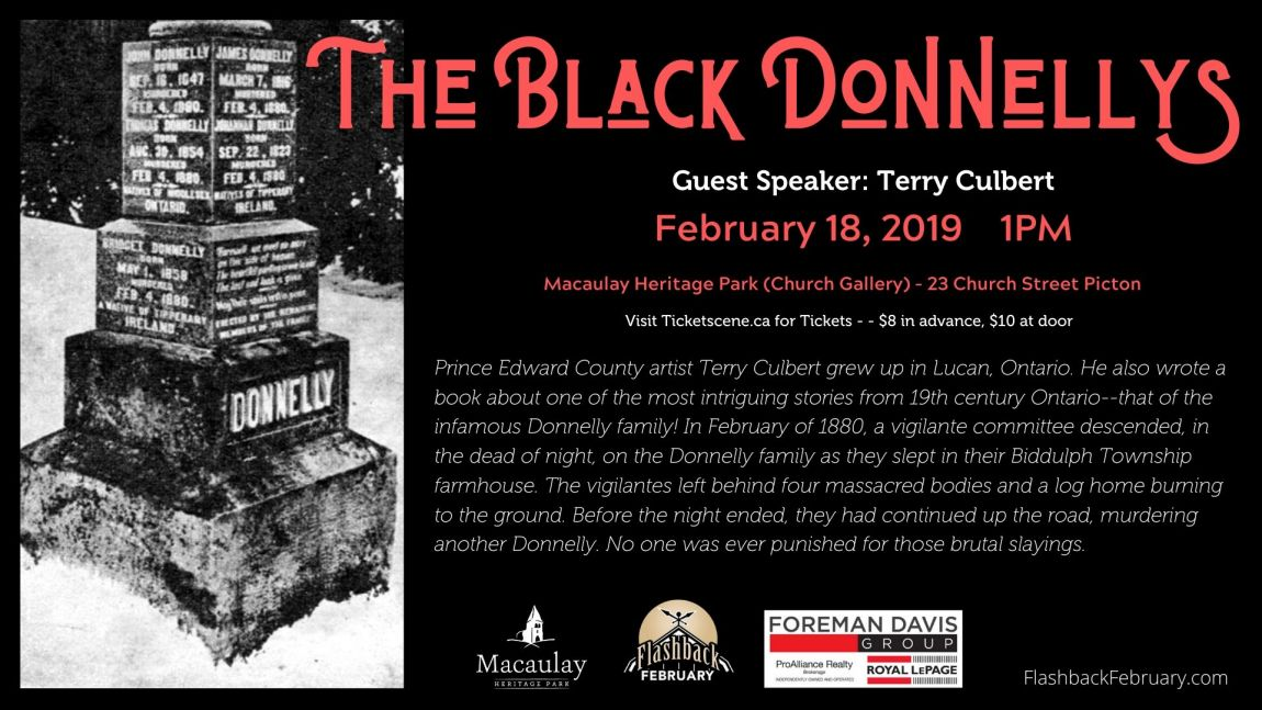 Flashback February: The Black Donnellys (Speaker: Terry Culbert)