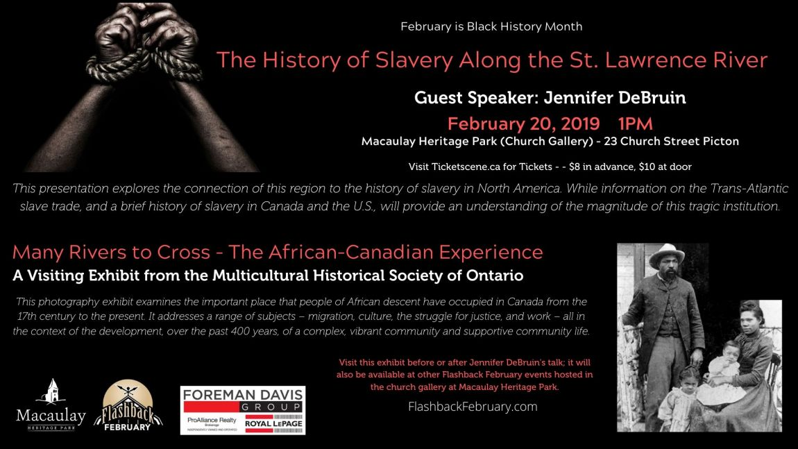 Flashback February: History of Slavery Along The St. Lawrence River