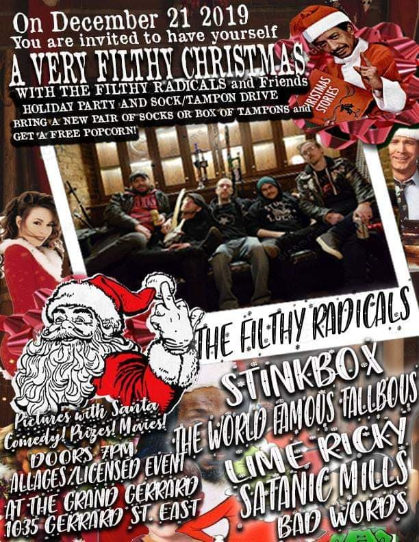 A VERY Filthy Christmas - Dec 21st at The Grand Gerrard