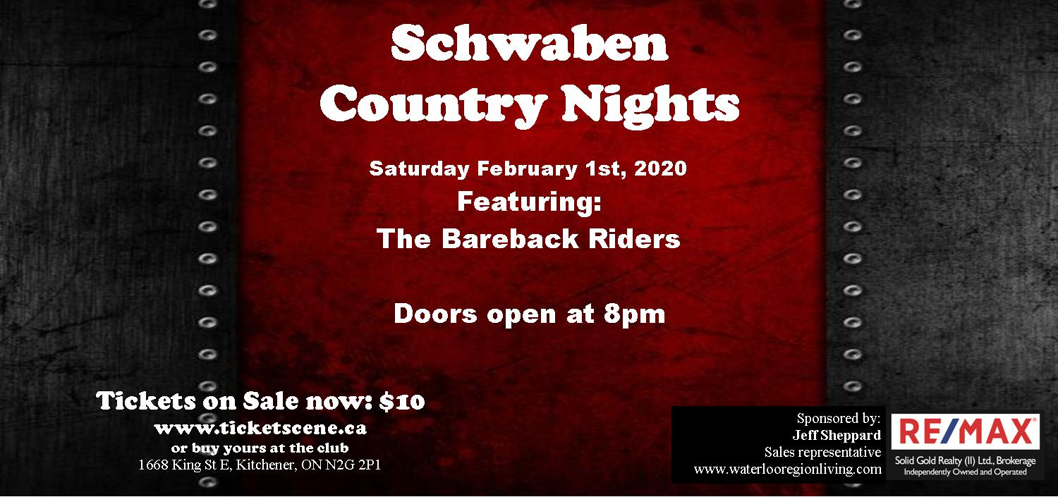 Schwaben Country Nights featuring The Bareback Riders