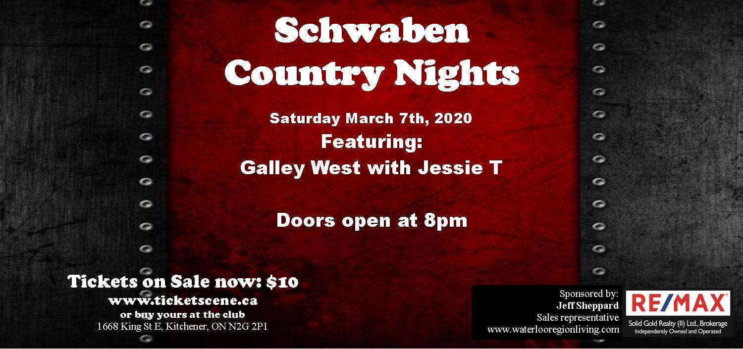 Schwaben Country Nights featuring Galley West with Jessie T